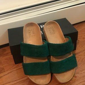 Naturalizer Shoes - Minimalist slide sandal - Green, size 8